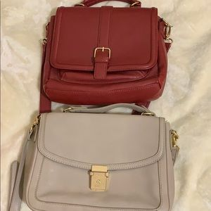 Two Gently used forever 21 bags - red and cream